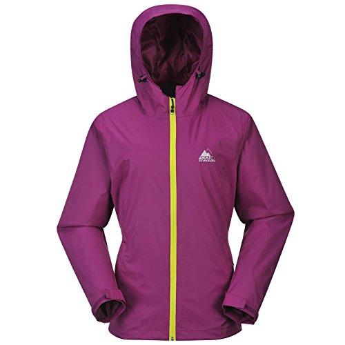 Cox Swain Damen Outdoor Funktions Regenjacke Breaker 8.000mm Wassersäule + 5.000mm atmungsaktiv, Colour: Purple/Yellow Zipper, Size: M