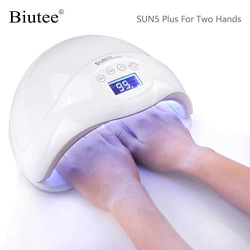 Biutee 48 W Lampara de Curado de Uñas LED Lampara Led Unas Secador de Unas Luz UV para Manicura con La Pantalla Digital