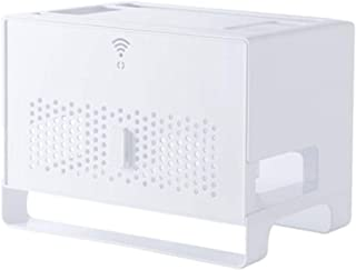 Caja De Almacenamiento De Enrutador WiFi Inalámbrico Rack De Decodificador De TV Placa Enchufable Hub Multimedia Sin Perfo...