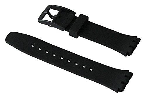 Correa silicona negra reloj Swatch Black Efficiency Chrono Plastic ASUSB400 20mm