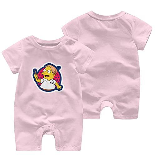 mz-shop I Like Trains - Mono de manga corta para niños y niñas recién nacidas, rosa, 2 Año