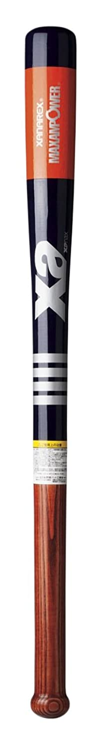抽象化理論適応的XANAX(ザナックス) 少年用 野球 ジュニアトレーニングバット 超極太グリップ ヤチダモ メイプル バーチ  80CM BTB-1012J ネイビー×アカチャ 5023C バット