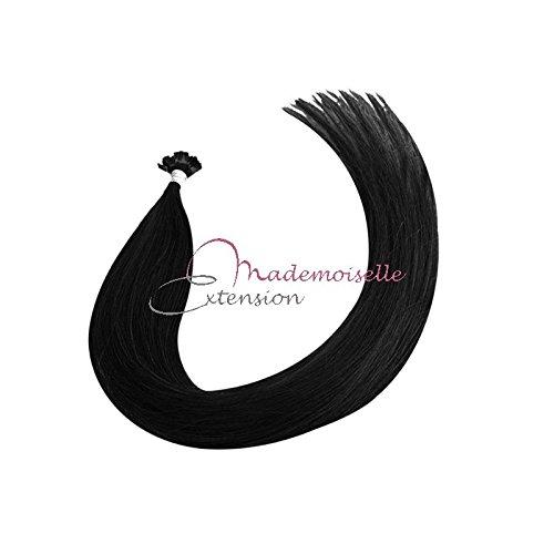 Extension Cheveux kératine - Gamme Density - Noir - 55/60 cm