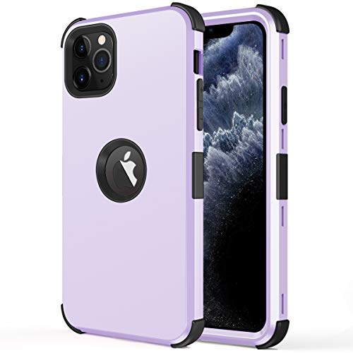 DOOGE iPhone 11 Pro Max Case, Full-Body Heavy Duty Shock Resistant Case Two Layer Soft Silicone & PC Rubber Hybrid Sturdy Armor Defender Protective Case for Apple iPhone 11 Pro Max 6.5 Inch