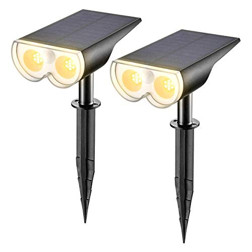 ZXYY Proyector De Paisaje Solar LED Luz De Pared Solar Luces De Jardín Impermeables Al Aire Libre para Patio Pasarela De Jardín