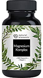 Magnesium complex - Premium: From 5 high quality compounds - 400mg elemental magnesium per daily dose - Laboratory-tested, vegan, high-dose and manufactured in Germany