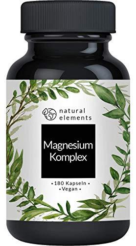 Magnesium Komplex - Premium: Aus 5 hochwertigen Verbindungen - 400mg elementares Magnesium pro Tagesdosis - Laborgeprüft, vegan, hochdosiert