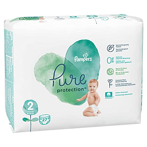 Pampers Pure Protection Größe 2, 27 Windeln