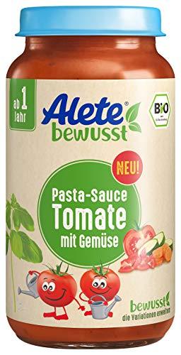 Alete bewusst Bio Pasta-Sauce, Tomate mit Gemüse, ab 1 Jahr, 240 ml