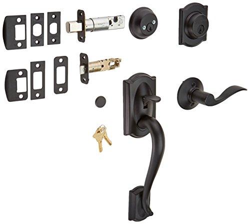 Schlage F62-CAM-ACC-LH Matte Black Handleset Schlage F62-CAM-ACC-LH Double Cylinder Sectional