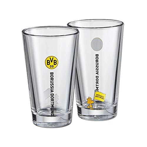 BVB-Wasserglas Snoopy (2er-Set) one size