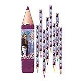 8er Set Bleistifte, kompatibel zu Disney Frozen 2 Die Eiskönigin | Geschenk für Kinder | Mädchen | Stift | Olaf