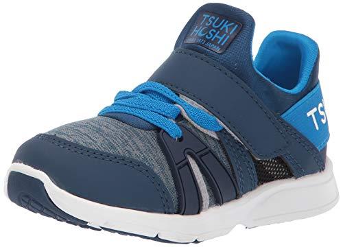TSUKIHOSHI Boy's Ignite Sneaker, Navy/Blue, 7 Toddler