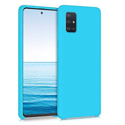 kwmobile Custodia Compatibile con Samsung Galaxy A51 - Cover in Silicone TPU - Back Case per Smartphone - Protezione Gommata Azzurro Mare