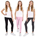 Lee 3 Pack Leggings for Girls | A Stylish Mix of Solid Color or Prints, Super Soft Pull on Leggings for All Day Comfort | Size 12