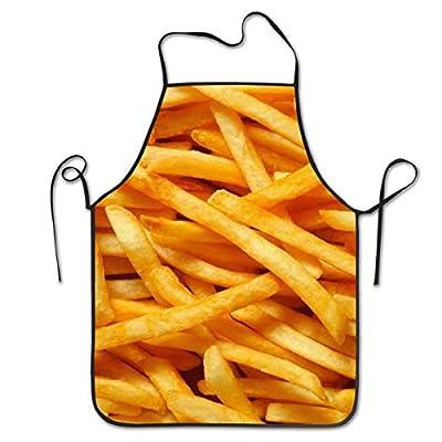 """QUEMIN Tabliers de frites pour femmes et hommes, tablier de chef de cuisine, tablier à bavette ajustable pour la cuisine, service - 20,4"""" X 28,3 """""""