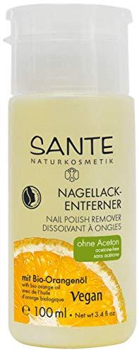 SANTE Naturkosmetik Nagellack-Entferner mit Bio-Alkohol, Acetonfrei, Mild & verträglich, Vegan, 100ml