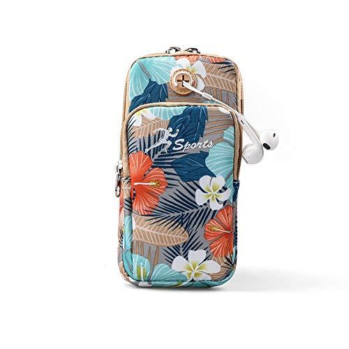 Bolso deportivo Bolsa de teléfono móvil de estilo tropical bolsa de teléfono móvil deportiva bolsa de muñeca deportiva unisex bolsa de brazo conjunto de brazo de teléfono móvil Bolsos deportivos