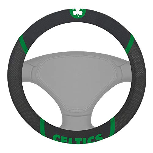 FANMATS 14841 NBA Boston Celtics Polyester Steering Wheel Cover,15'x15'