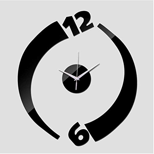 hutianyu Diy Wandklok Acryl Klokken Quartz Horloge Woonkamer Moderne 3D Spiegel Stickers Thuis Diameter: 100 cm