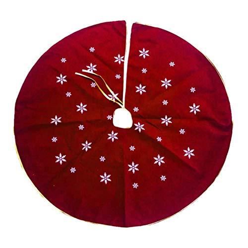 Molinter Christbaumständer Weihnachtsbaum Decke Stern Muster Weihnachts Plüsch Dekorationen Weihnachtsbaum Abdeckung Runde Christbaumdecke