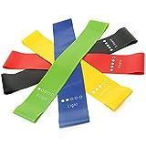 5 pcs/Set Training Rope Pulling Yoga Gym Workout Resistance Bands Loop Natural Rubber Resistance...
