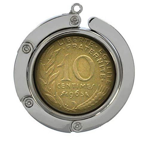 Xubu - Perchas para Monedas Vintage (10 Ganchos Yuan), diseño de Moneda Francesa
