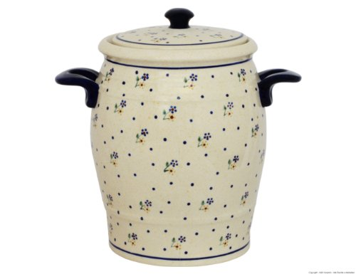 Original Bunzlauer Keramik Rumtopf 4.2 Liter/Mehrzwecktopf/Keramiktopf im Dekor 111