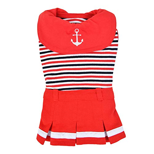 Puppia Hundebekleidung Nautical Rot S
