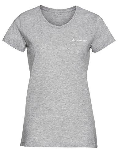 VAUDE Brand T-Shirt Manches Courtes, de Grey Melange, 48