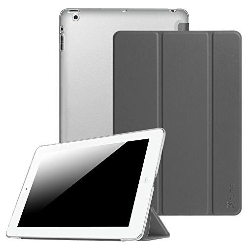 Fintie Hülle für iPad 4, iPad 3 und iPad 2 - Ultradünne Superleicht Schutzhülle mit transparenter Rückseite Abdeckung Cover mit Auto Schlaf/Wach Funktion, Himmelgrau