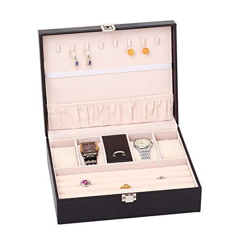 Rganizador welry caja de la caja welry y vitrina con espejo for los pendientes de ver el collar de Wels brazo DDLS (Color : 5)