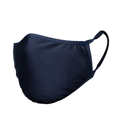 STANTEKS Unisex 2-lagige Mund Nasenmaske Gesichtsmaske, Maske Hygiene-Maske, Antibakterielle Mundschutz, Anti-Staub-Verschmutzung, Wiederverwendbar, Waschbar, Silberionen Silver+, BT0043