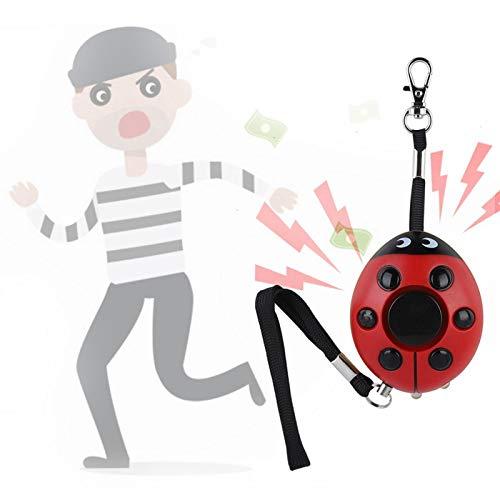 Oreilet Alarma de Seguridad Personal, Llavero de Alarma portátil, con luz LED al Aire Libre para Dispositivos de Seguridad para Mujeres