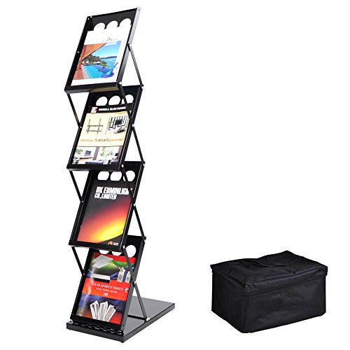 Voilamart Portable Pop-up Folding Display Magazine Brochure Catalog Literature
