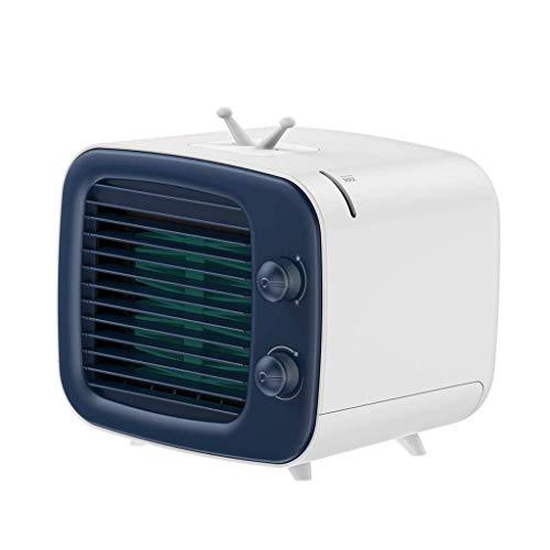 ZHOUJ Refrigerador de aire portátil, mini ventilador de aire acondicionado silencioso evaporativo, aire acondicionado de espacio personal, mini refrigerador, velocidad de 3 engranajes