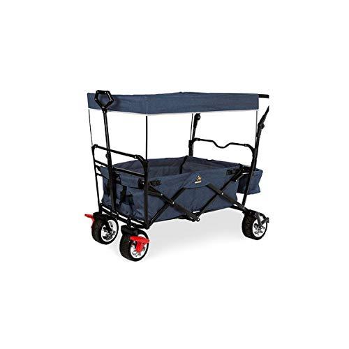 Pinolino 238025 Klappbollerwagen 'Paxi Style' mit Bremse, marineblau meliert, blau 1 stück