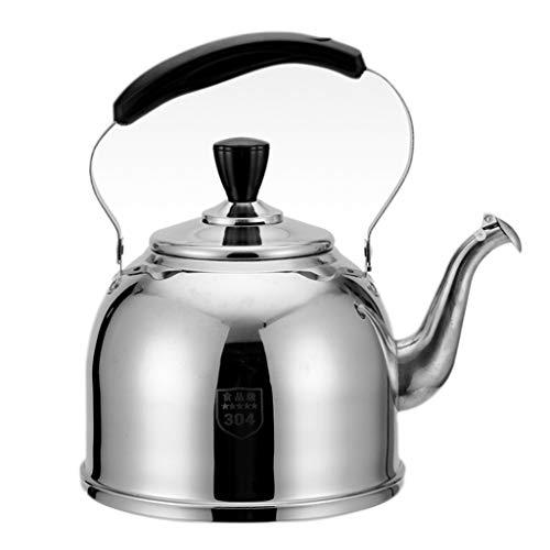 LCFF Bouilloire maison cuisine 304 acier inoxydable cuisinière à induction gaz générale sifflet bouilloire (Capacité : 6L)