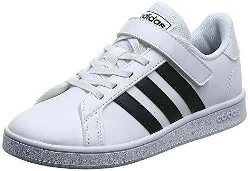 adidas Grand Court I, Scarpe da Ginnastica, Ftwr White/Core Black/Ftwr White, 25 EU