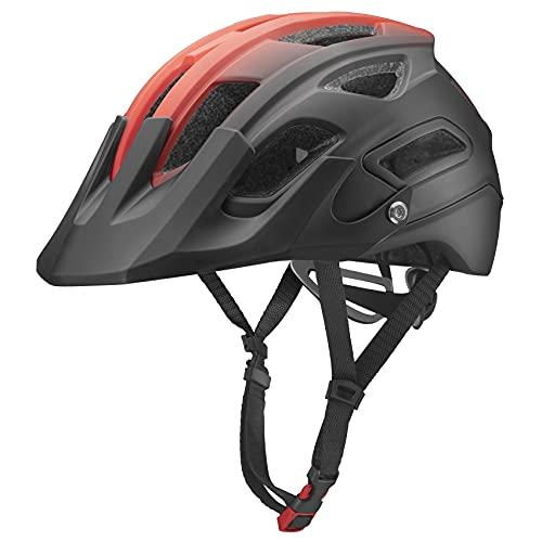 ROCKBROS Casco Aerodinámico con Visera Ajustable Desmontable de Bicicleta MTB, Unisex Adulto...