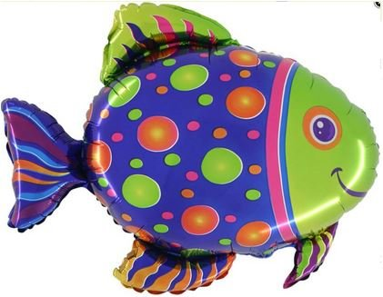 Folienballon Fisch ca. 70x80cm