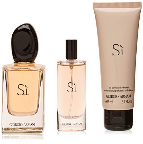 Armani Si Set 100ml Eau de Parfum + 15ml Eau de Parfum + 75ml Body Lotion