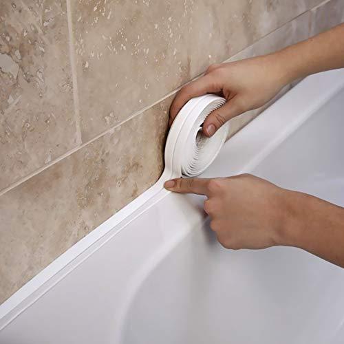 Wasserdichtes klebeband PVC Selbstklebende Dichtband ,verhindert Schimmel Dichtungsband Badewannendichtung für Küche, Bad, Badewanne, Dusche