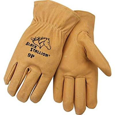 Black Stallion 9P Premium Grain Pigskin Driving Gloves