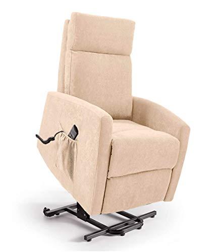 Home Heavenly - Sillón Relax Lyon, butaca reclinable con elevación automática Lyon, en tapizado Beige