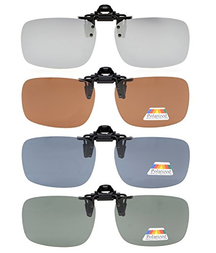 Eyekepper Flip-up Gafas de sol Clip Polarizado 60x43 MM 4-Pack Clip de gafas de metal