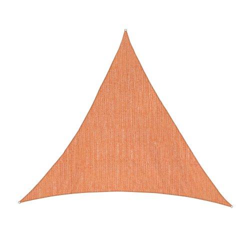 jarolift Voile d'ombrage Toile Triangulaire Tissu Respirant 360 x 360 x 360 cm, Orange