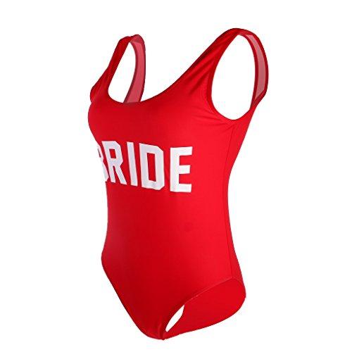 MagiDeal Traje de Una Pieza Traje de Baño de Mujeres Impreso con Bride Bikini de Playa para Natación 3 Colores