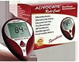 Advocate Redi-Code Plus Speaking Glucose Meter Kit Combo (Meter Kit and Test Strips 100ct)