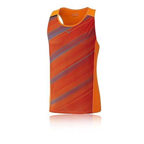 Mizuno Herren Premium Aero Singlet Ärmelloses T-Shirt, Orange/Clown Fish/Tornado, S